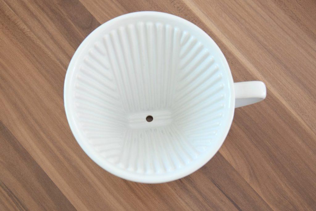 Porzellankaffeefilter