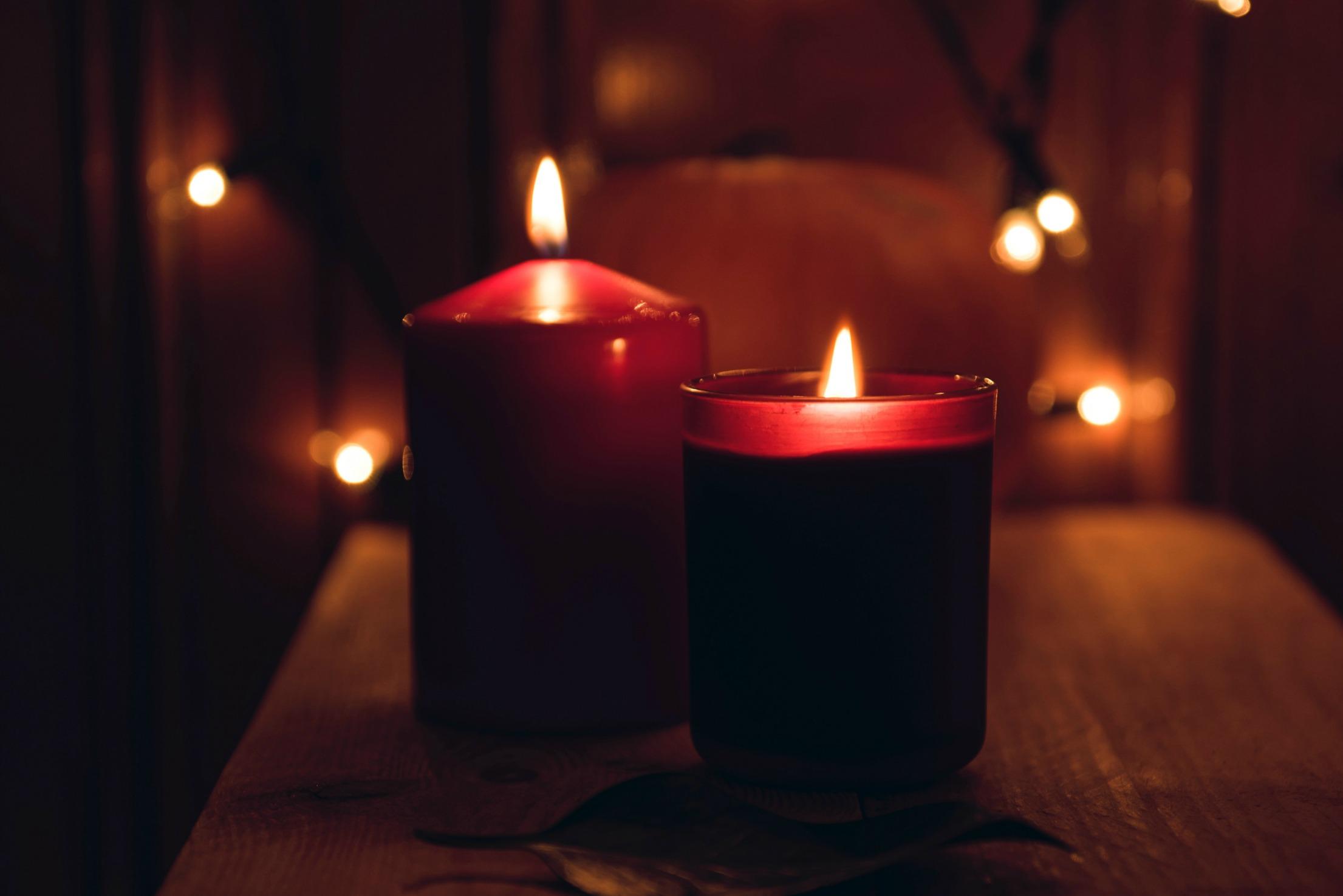 Kerzenlicht beim Baden