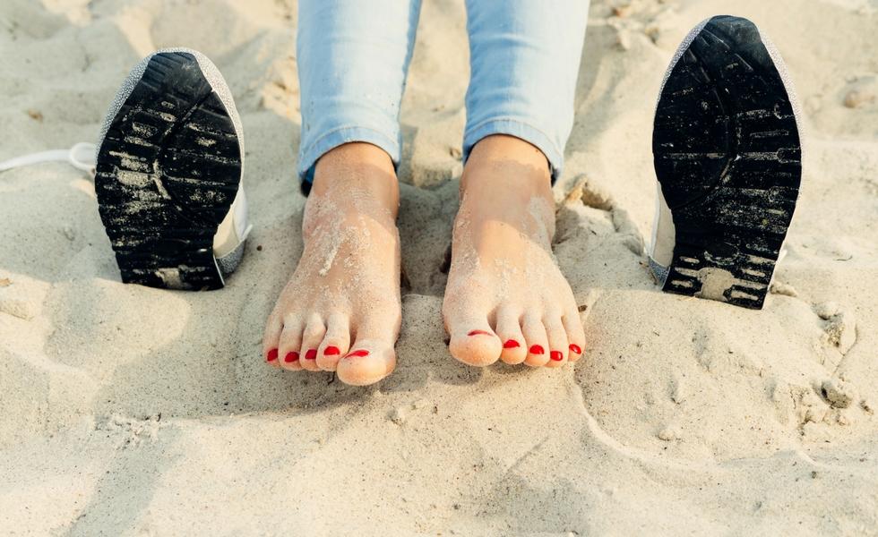 Schön gepflegte Füße