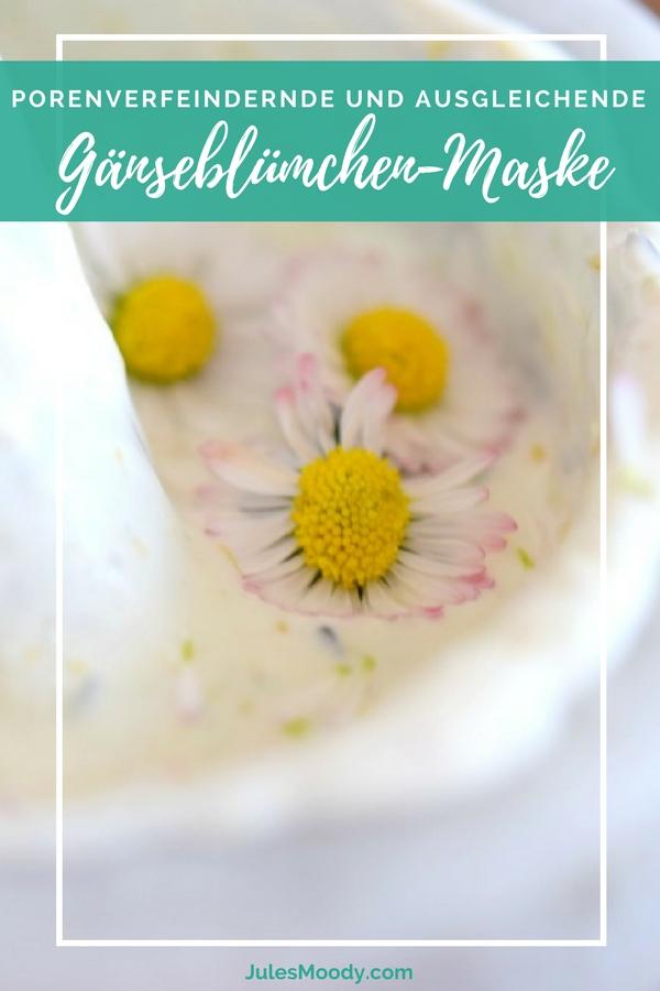 Gesichtsmaske aus Gänseblümchen, Maske, Hautpflege