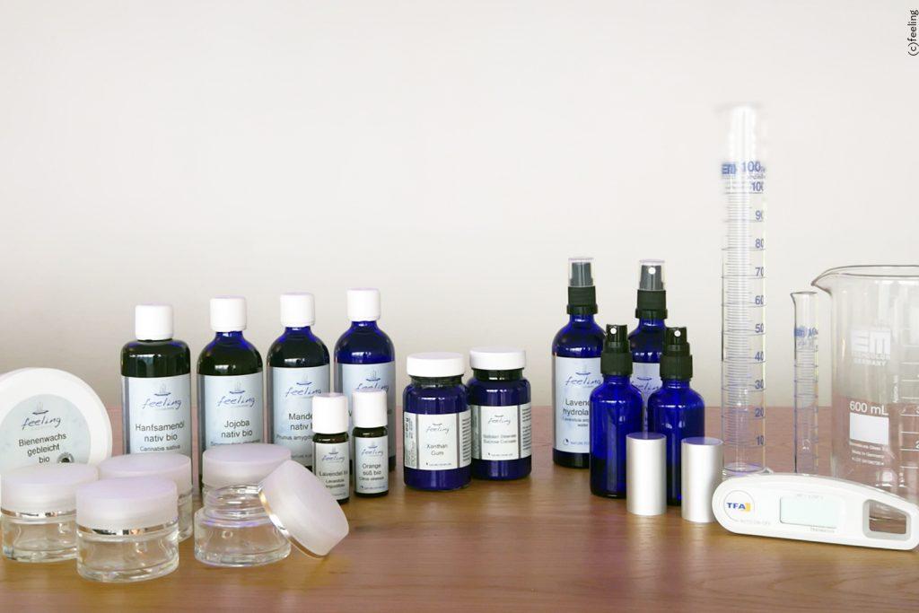 Feeling Starterset Naturkosmetik-Rohstoffe Grundausstattung