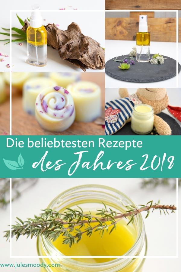 Die besten Rezepte aus 2018 Naturkosmetik