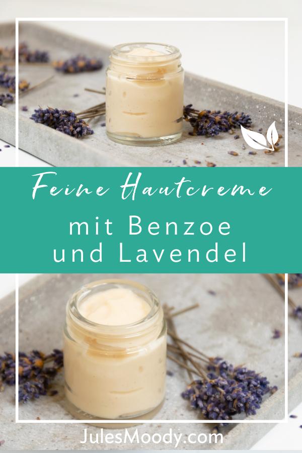 Hautcreme mit Benzoe und Lavendel