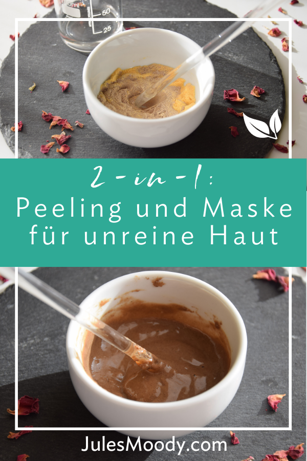 2-in-1 Peeling und Maske für unreine und fette Haut