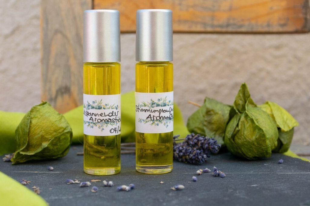 Aromastick ganz einfach selbstgemacht ideal als Geschenk Naturkosmetik Parfum