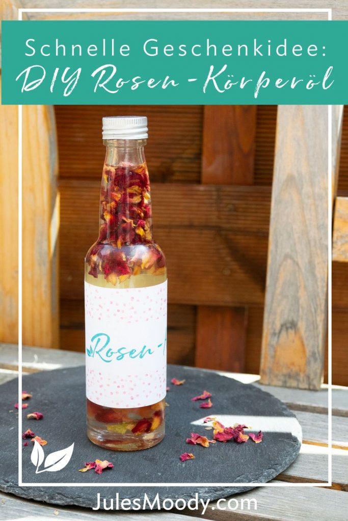 Rosen-Körperöl eine schnelle Geschenkidee