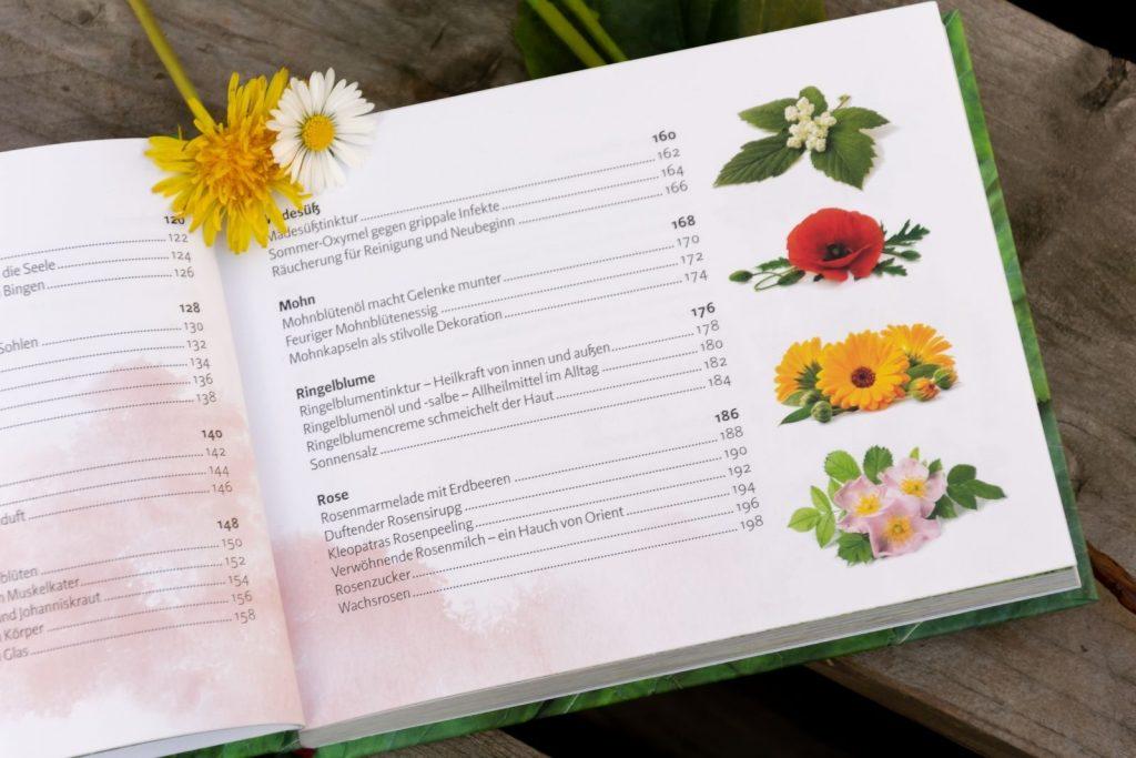 Aufbau des Buches Verlockende Blüten